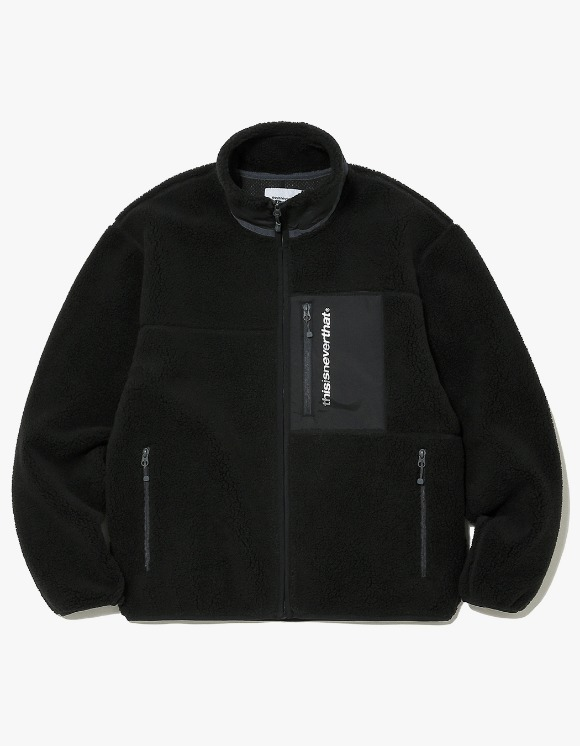thisisneverthat SP Boa Fleece Jacket - Black | HEIGHTS. | International Store