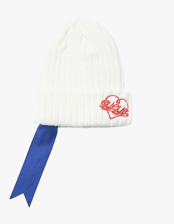 eyeye EYEYE Embroidery Clip Beanie - White | HEIGHTS. | International Store