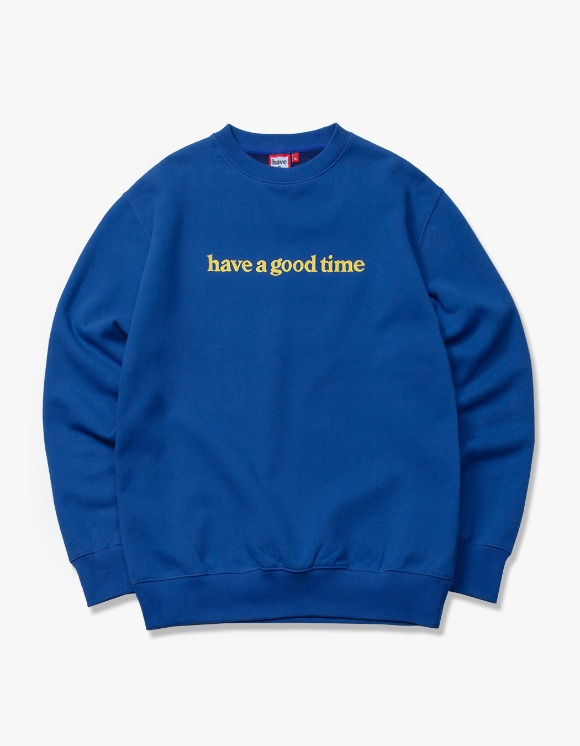 have a good time Side Logo Crewneck - Midnight Blue | HEIGHTS. | International Store