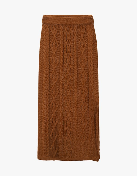 Dessert Knit Twisted Skirt - Brown | HEIGHTS. | International Store