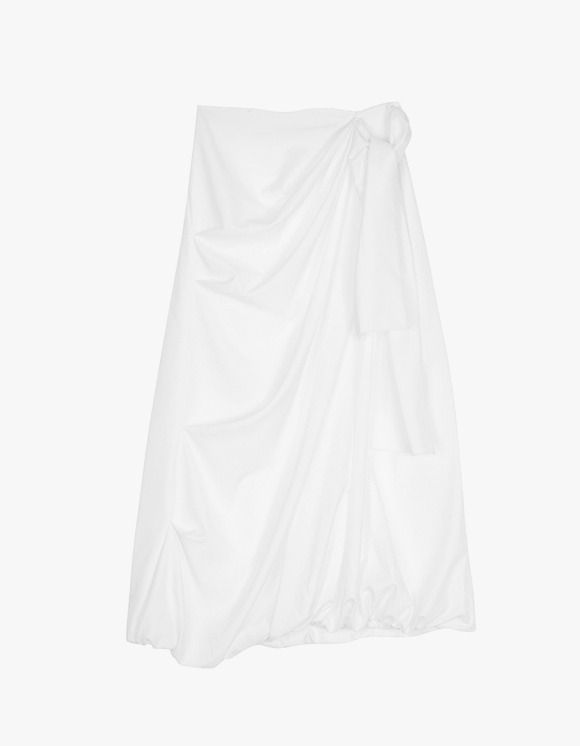 Dessert Shirring Skirt - White | HEIGHTS. | International Store