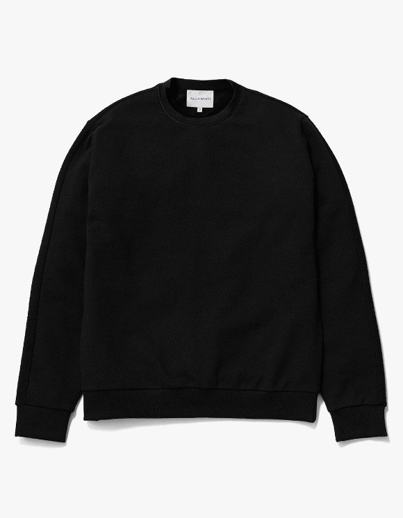 AECA WHITE Blake Patch Sweat - Black | HEIGHTS. | International Store