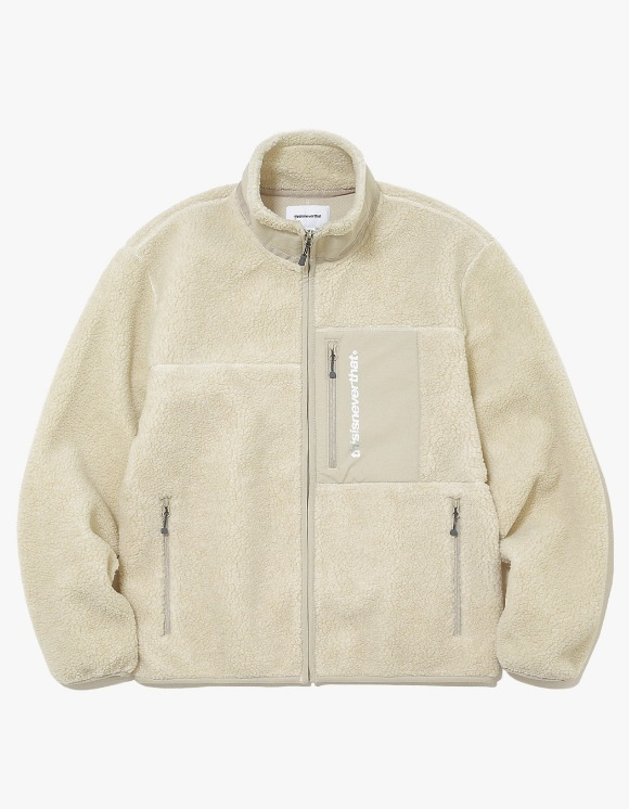 thisisneverthat SP Boa Fleece Jacket - Ivory | HEIGHTS. | International Store