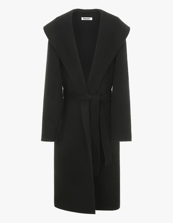 Dessert Hand Made Over Collar Robe Coat - Black | HEIGHTS. | International Store
