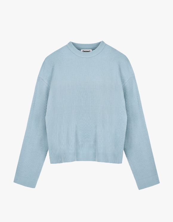 Dessert Round Neck Knit  - Light Blue | HEIGHTS. | International Store