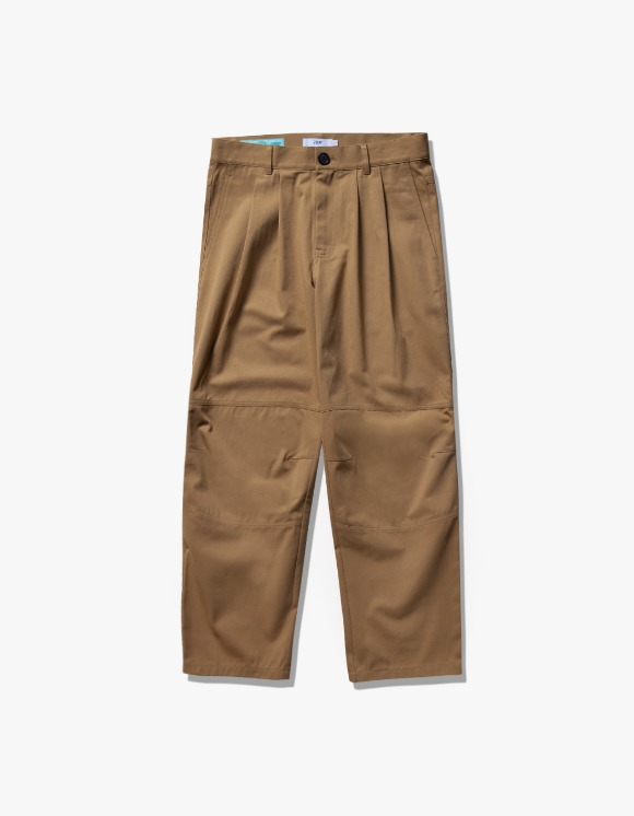 have a good time Wide Tuck Twill Pants - Beige | HEIGHTS. | International Store