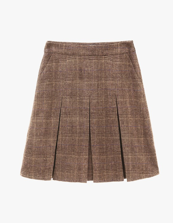 Dessert Pleats Mid Skirt - Brown | HEIGHTS. | International Store