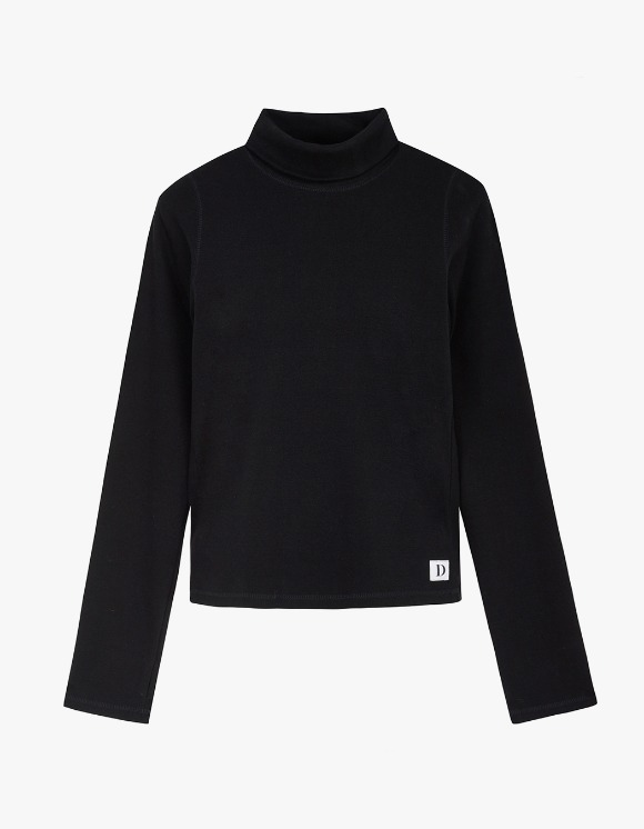 Dessert Basic Stitch Turtleneck - Black | HEIGHTS. | International Store