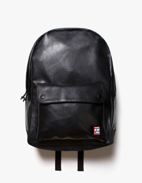 have a good time Frame Faux Leather Backpack - Black | HEIGHTS. | International Store