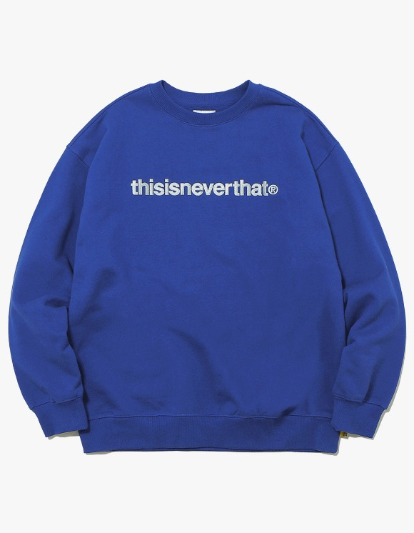 thisisneverthat T-Logo Crewneck - Dark Blue | HEIGHTS. | International Store