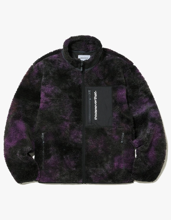 thisisneverthat SP Boa Fleece Jacket - Purple | HEIGHTS. | International Store