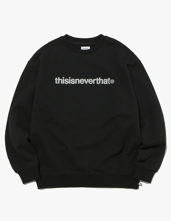thisisneverthat T-Logo Crewneck - Black | HEIGHTS. | International Store