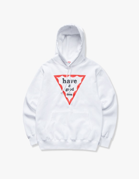 have a good time Triangle Frame Pullover Hoodie - White | HEIGHTS. | International Store