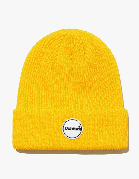 thisisneverthat Rubber C-Logo Short beanie - Yellow | HEIGHTS. | International Store