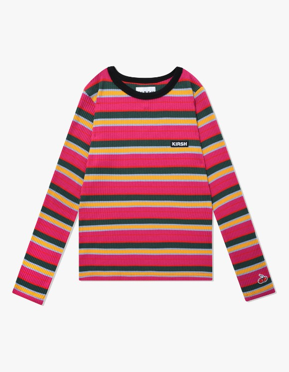 KIRSH COLOR STRIPE T-SHIRTS IA - HOT PINK | HEIGHTS. | International Store