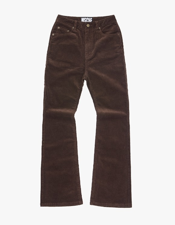 MISCHIEF Corduroy Boot Cut Pants - Brown | HEIGHTS. | International Store