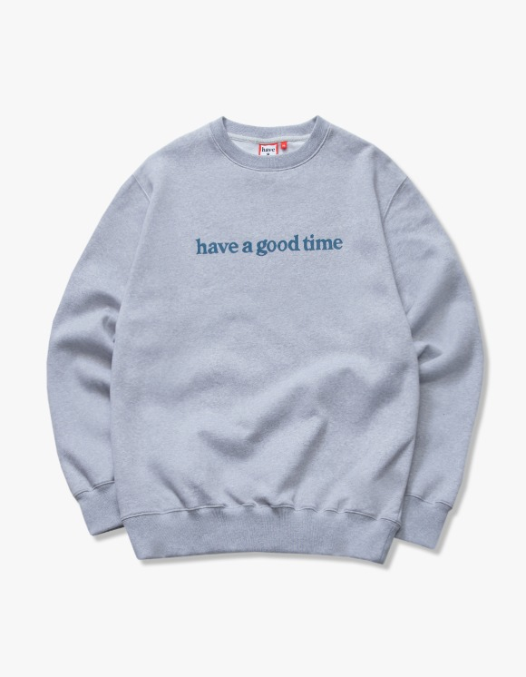 have a good time Side Logo Crewneck - Heather Grey | HEIGHTS. | International Store