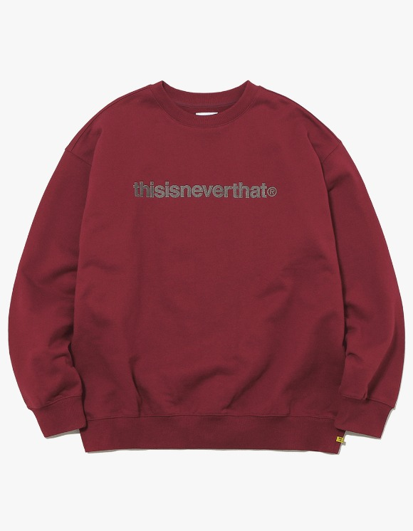 thisisneverthat T-Logo Crewneck - Burgundy | HEIGHTS. | International Store