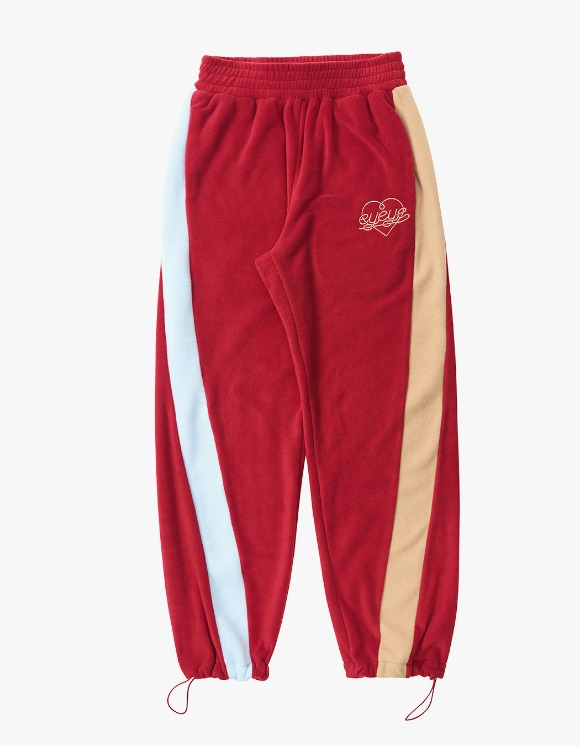 eyeye Color Combination Fleece Pant - Red | HEIGHTS. | International Store