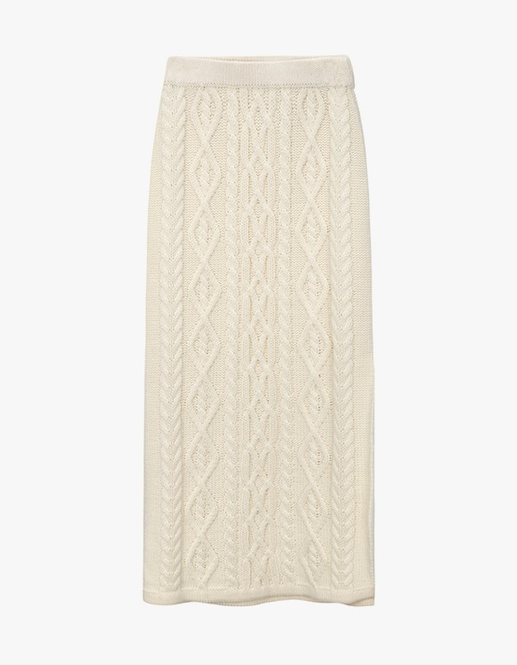 Dessert Knit Twisted Skirt - Ivory | HEIGHTS. | International Store