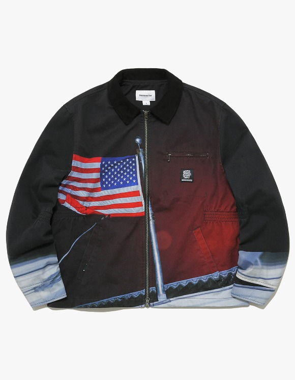 thisisneverthat American Flag Work Jacket - Black | HEIGHTS. | International Store