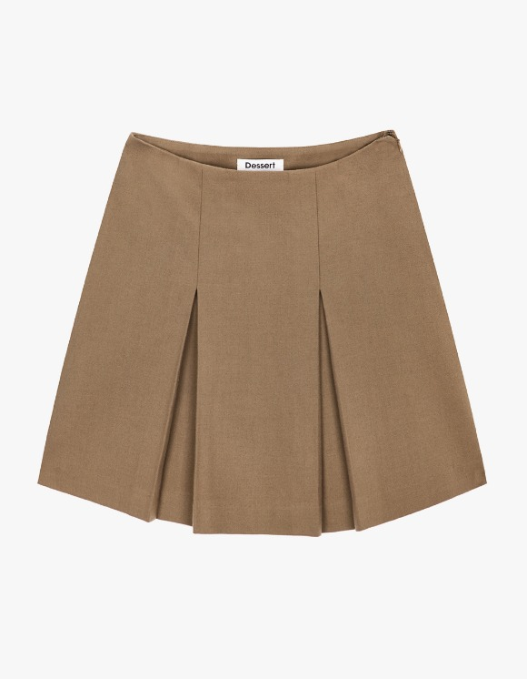 Dessert Pleats Mini Skirt - Dark Beige | HEIGHTS. | International Store