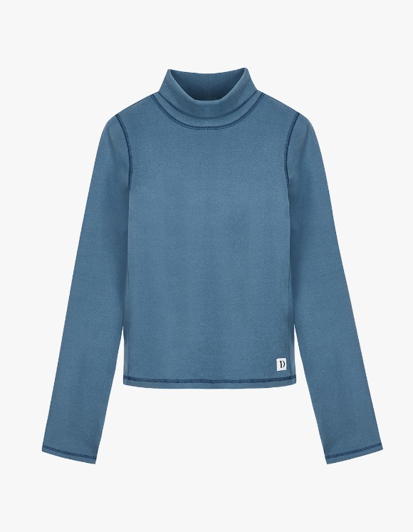 Dessert Basic Stitch Turtleneck - Light Blue | HEIGHTS. | International Store