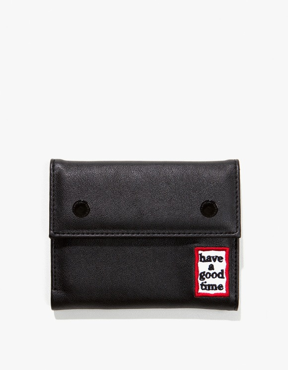have a good time Frame Faux Leather Wallet - Black | HEIGHTS. | International Store