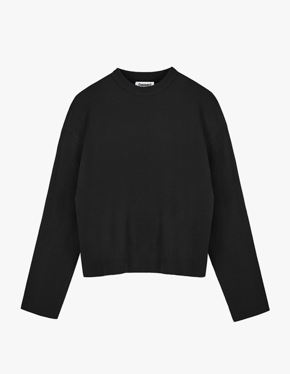 Dessert Round Neck Knit  - Black | HEIGHTS. | International Store