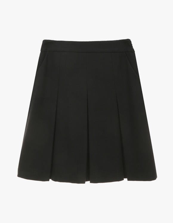 Dessert Pleats Mid Skirt - Black | HEIGHTS. | International Store