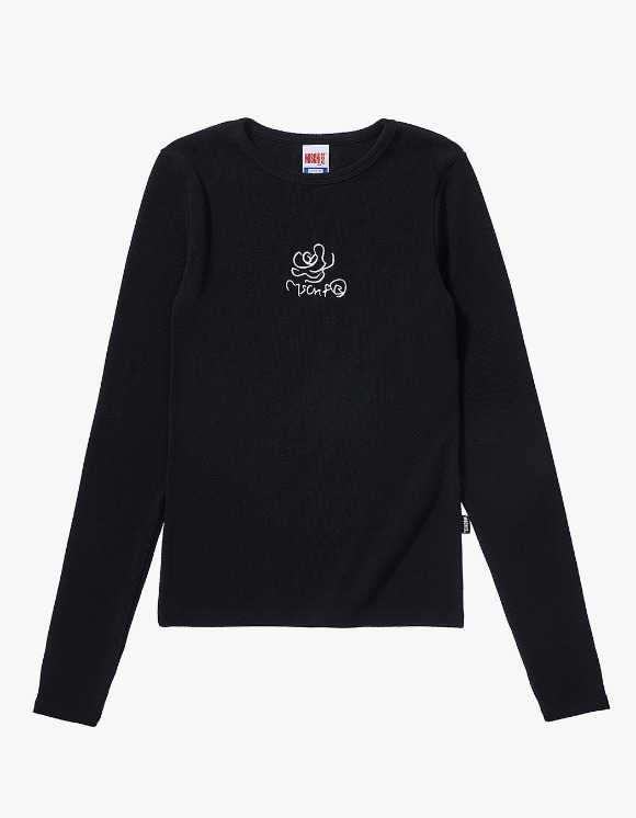 MISCHIEF Fitted Rose Long Sleeve - Black | HEIGHTS. | International Store