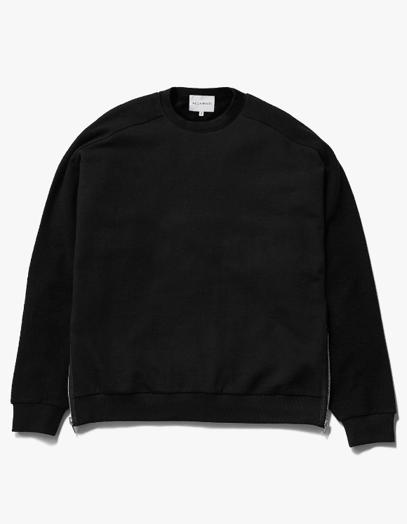 AECA WHITE Suite Double Zip Sweat - Black | HEIGHTS. | International Store
