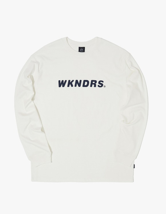 WKNDRS L/S Basic Logo Tee - White | HEIGHTS. | International Store