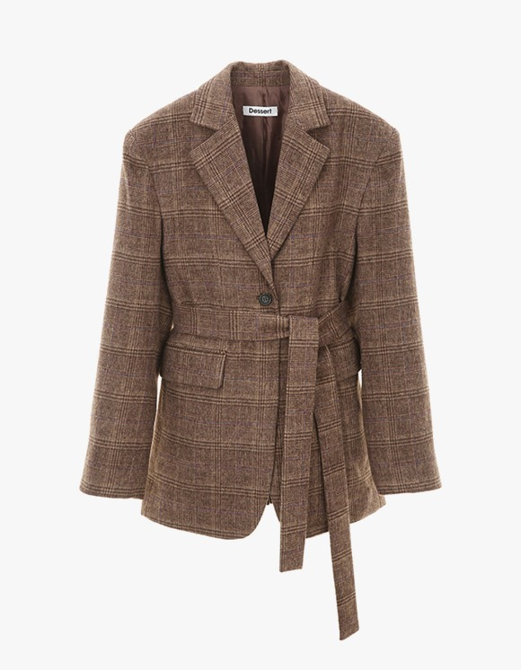 Dessert Two way Tailored Jacket - Brown | HEIGHTS. | International Store