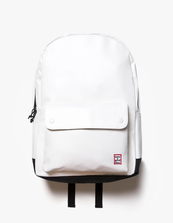 have a good time Frame Faux Leather Backpack - White | HEIGHTS. | International Store