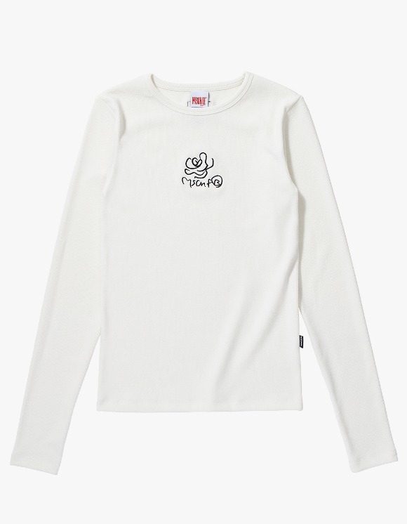 MISCHIEF Fitted Rose Long Sleeve - White | HEIGHTS. | International Store