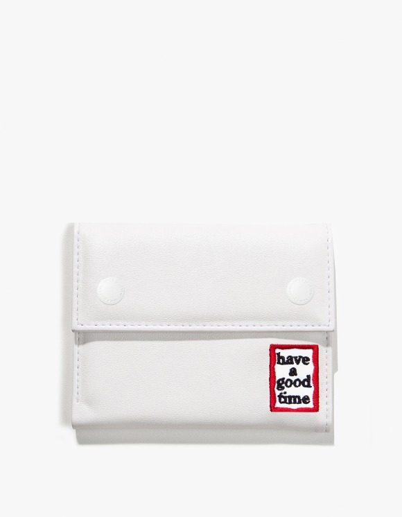 have a good time Frame Faux Leather Wallet - White | HEIGHTS. | International Store