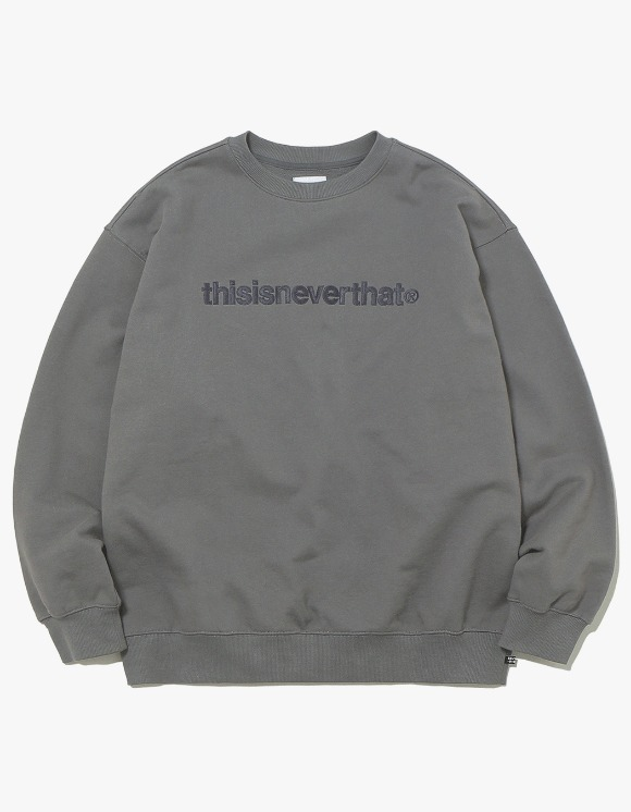 thisisneverthat T-Logo Crewneck - Charcoal | HEIGHTS. | International Store
