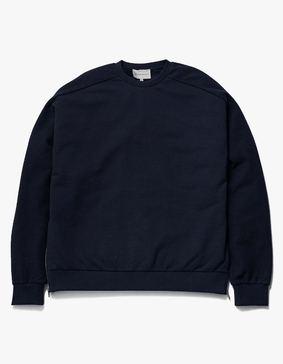 AECA WHITE Suite Double Zip Sweat - Deep Navy | HEIGHTS. | International Store