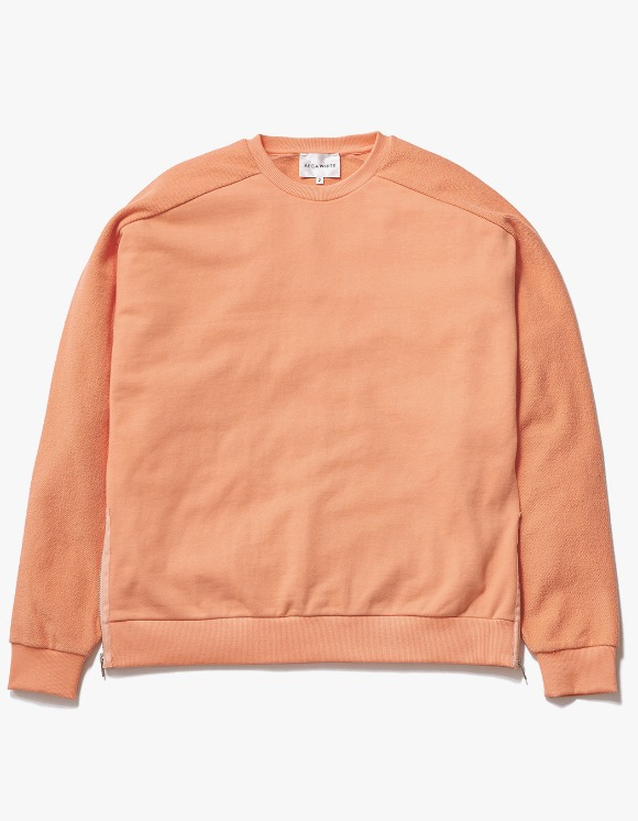 AECA WHITE Suite Double Zip Sweat - Peach Pink | HEIGHTS. | International Store
