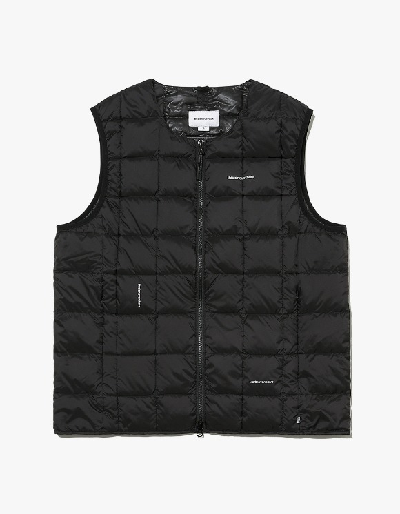 thisisneverthat TNT X TAION Crew Neck W-ZIP Down Vest - Black | HEIGHTS. | International Store