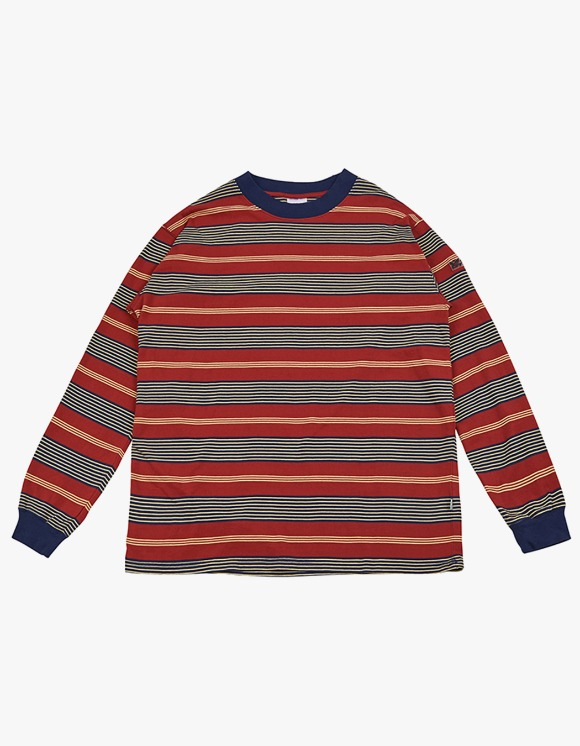 yeseyesee Y.E.S Stripe Long Sleeve - Red | HEIGHTS. | International Store