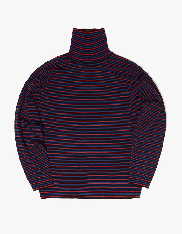 WKNDRS Striped Knit Turtleneck - Black | HEIGHTS. | International Store