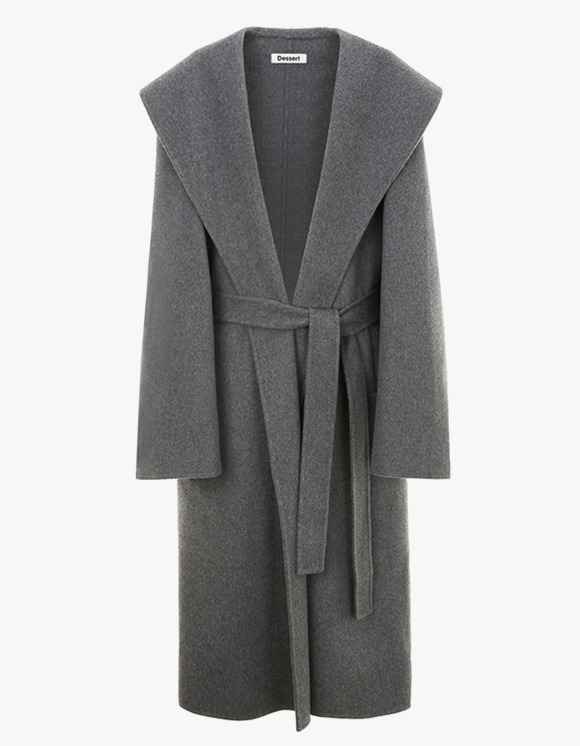 Dessert Hand Made Over Collar Robe Coat - Grey | HEIGHTS. | International Store