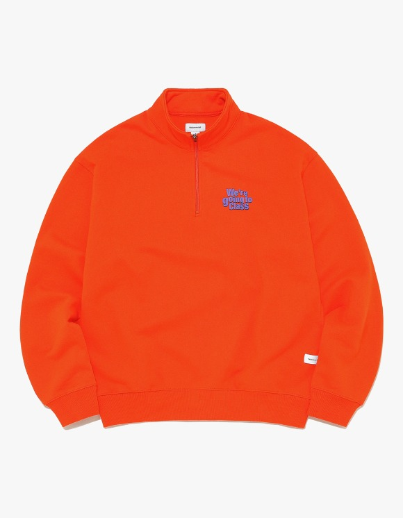 thisisneverthat GOING TO CLASS Half ZIP Pullover - Orange | HEIGHTS. | International Store