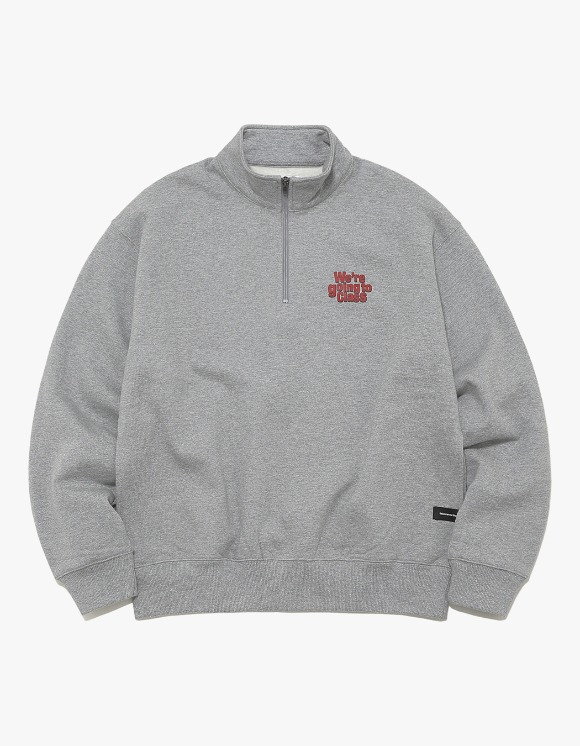 thisisneverthat GOING TO CLASS Half ZIP Pullover - Grey | HEIGHTS. | International Store