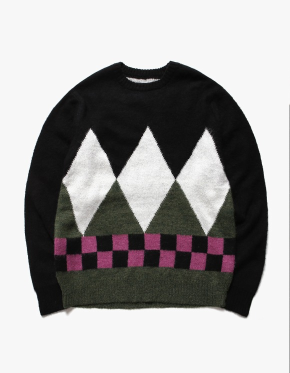 Stussy Diamond Check Mohair Sweater | HEIGHTS. | International Store