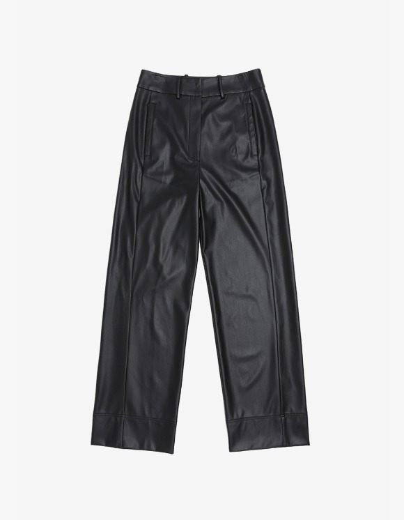 s/e/o Faux Leather Wide Pants - Black | HEIGHTS. | International Store