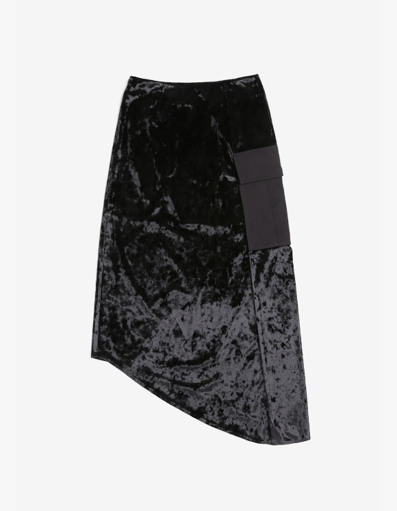 s/e/o Velvet Midi Skirt - Black | HEIGHTS. | International Store