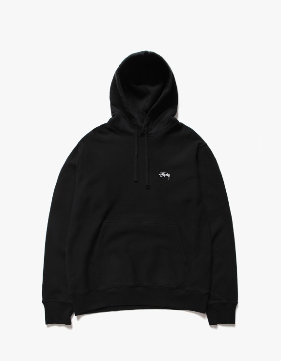 Stussy Stock Logo Hoodie - Black | HEIGHTS. | International Store